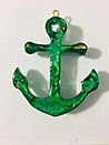 Anchor Pendant - Green, Gold, Turquoise