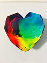 Faceted Heart Pendant - Rainbow