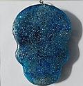 Skull (Large) Pendant - Blue, Black, White