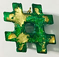 Hashtag Pendant - Green, Gold, Turquoise