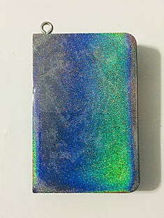 Holographic Pendant - Holographic, Blue, Orange