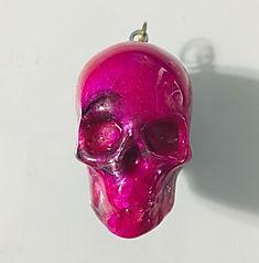 Skull Pendant - Pink, Black, White