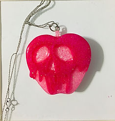 Poison Apple Pendant -Hot Pink, Ligh Pink