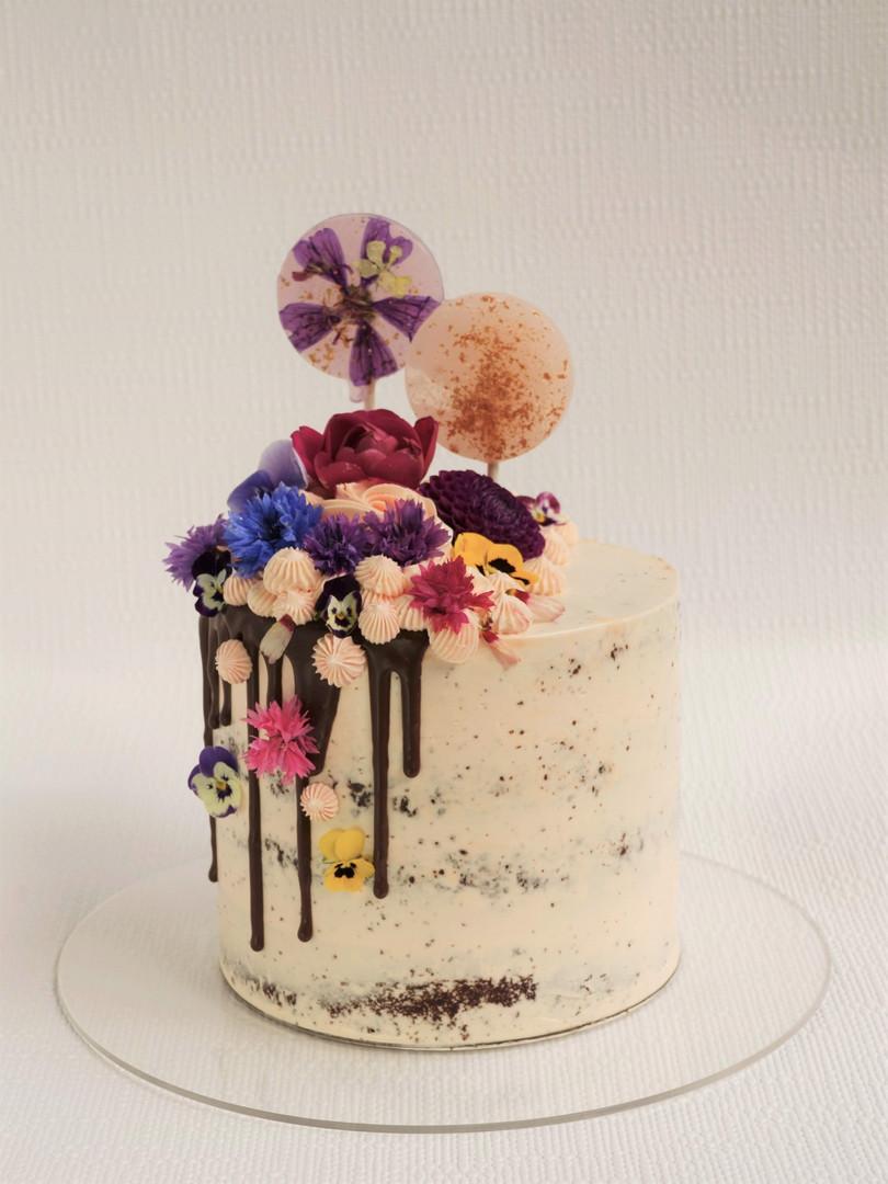 Botanical buttercream layer cake