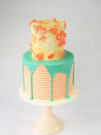 Two tier buttercream cake