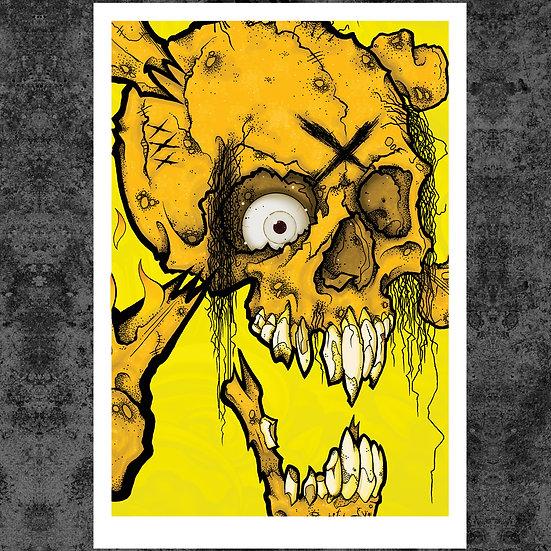 """X HEAD 13"""" x 19"""" ART PRINT"""