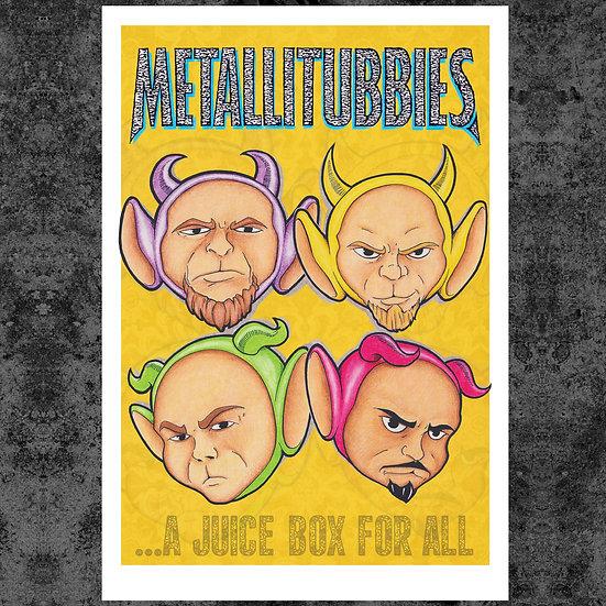 "METALLITUBBIES 13"" x 19"" ART PRINT"