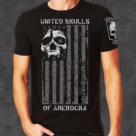 """""""UNITED SKULLS of AMEROCKA"""" MENS T"""
