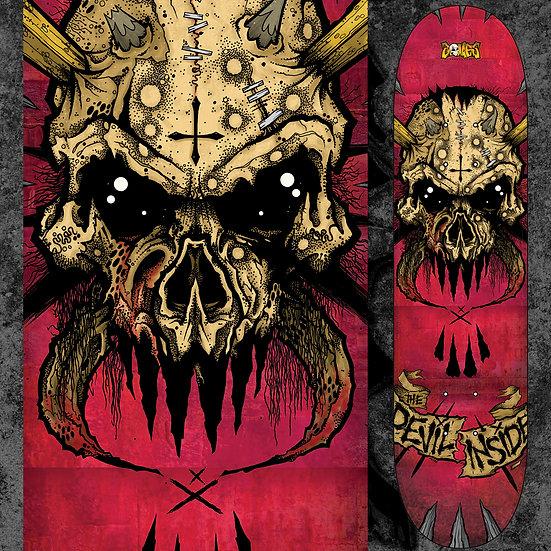 """DEVIL INSIDE 8.5"""" SKATEDECK WALL HANGER"""