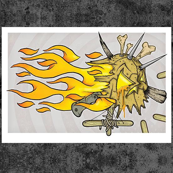 "LEATHERFACE 13"" x 19"" ART PRINT"