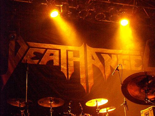 Death Angel backdrop in Toronto