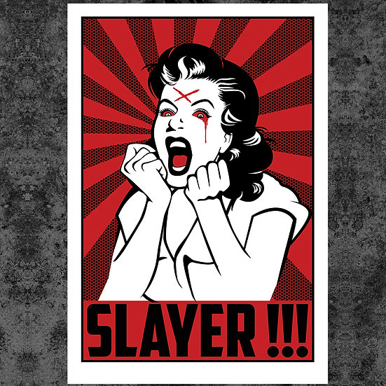 "SLAYER SCREAM 13"" x 19"" ART PRINT"