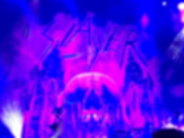 Purple skull Slayer backdrop