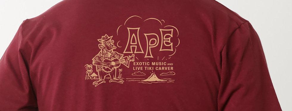APE Burgundy with Gold Art t-shirt
