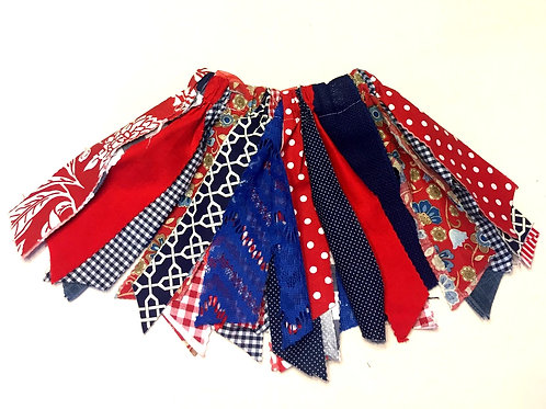 Red & Blue Shabby Tutu Skirt