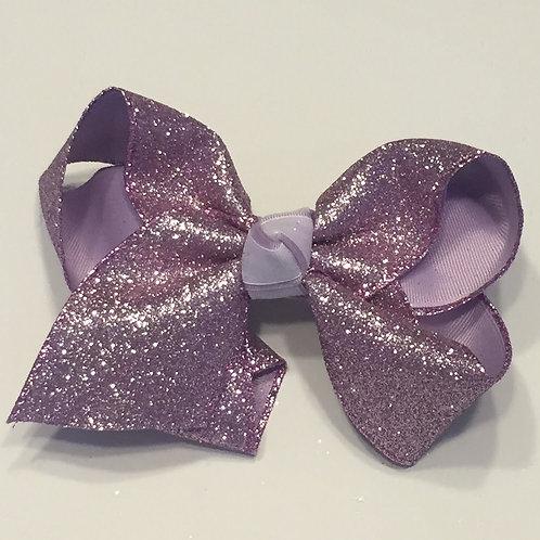 Lavender Glitter Bow
