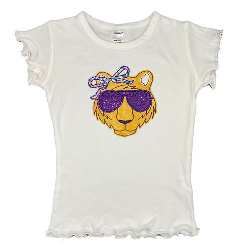 Girly Tiger with Sunglasses
