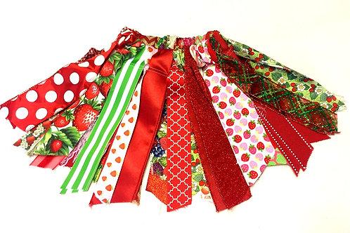 Sweet Strawberry Shabby Tutu Skirt