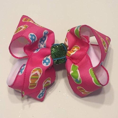 Pink Flip Flop Bow