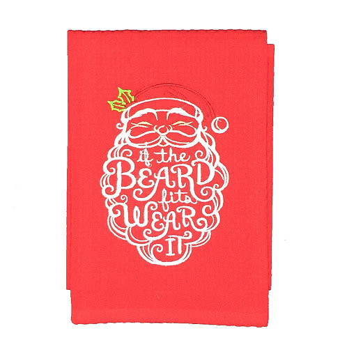 If the Beard Fits, Wear It Dish Towel