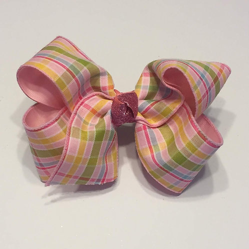 Pink Plaid Bow
