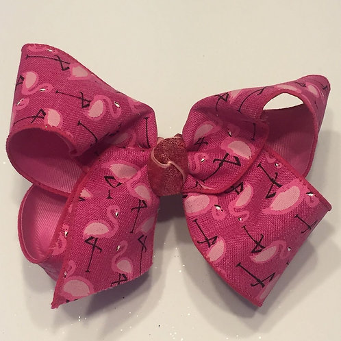 Pink Flamingo Bow