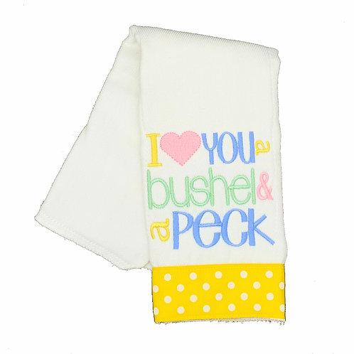 I love you a Bushel and a Peck Burpcloth