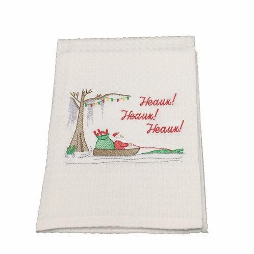 Cajun Santa- Heaux Heaux Heaux Dish Towel