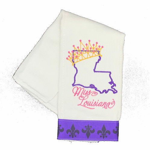 Miss Louisiana Burpcloth