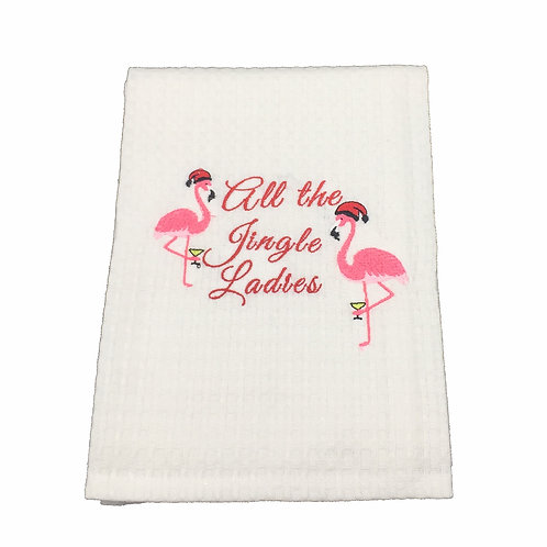 All the Jingle Ladies Dish Towel
