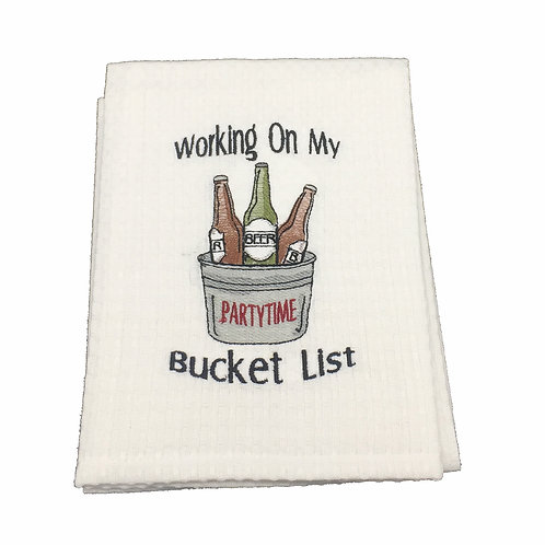 Bucket List Dish Towel