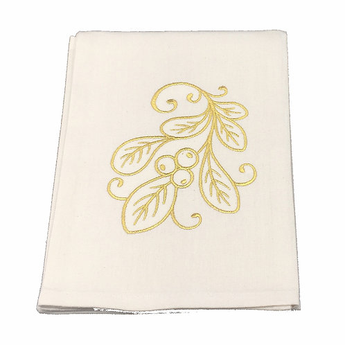 Gold Leaves Dish Towel