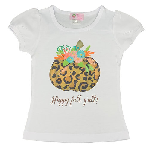 Happy Fall, Y'all Leopard Pumpkin