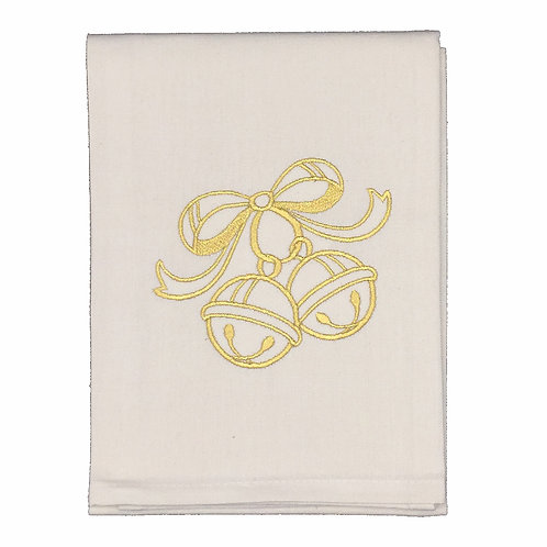 Gold Christmas Bells Dish Towels