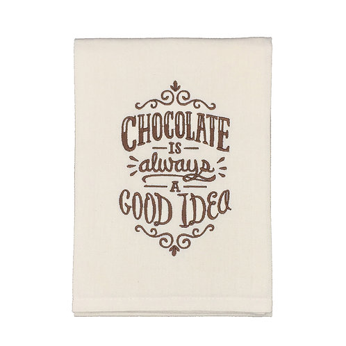Chocolate is Always a Good Idea Dish Towel