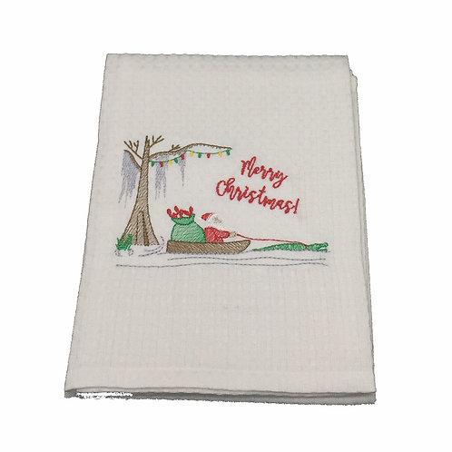 Cajun Santa- Merry Christmas Dish Towel