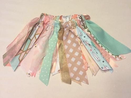Mint & Pink Shabby Tutu Skirt