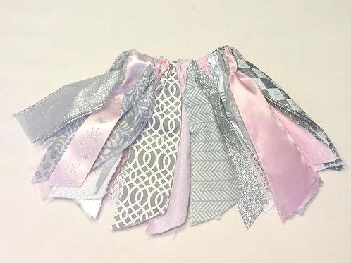 Silver & Pink Shabby Tutu Skirt