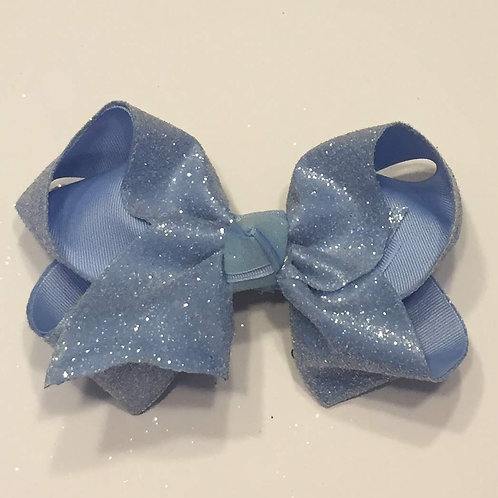 Sky Blue Glitter Bow