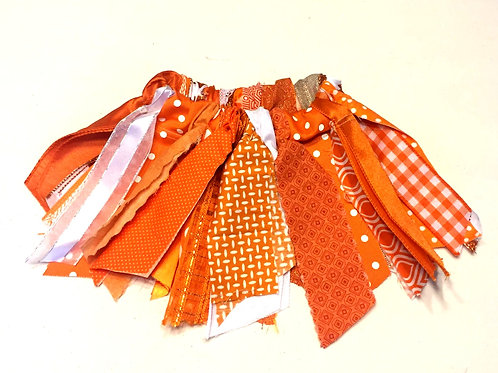 Orange Shabby Tutu Skirt