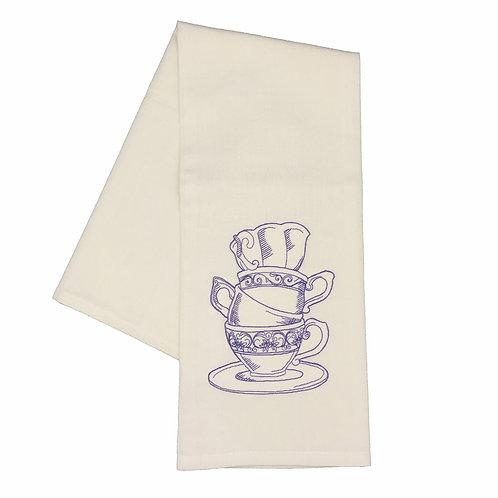 Tea Cups Dish Towel