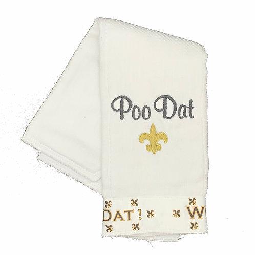 Poo Dat Saints Burpcloth