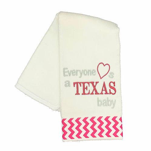 Everyone Loves a Texas Baby Burpcloth