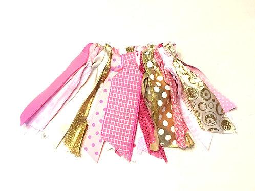 Pink & Gold Shabby Tutu Skirt