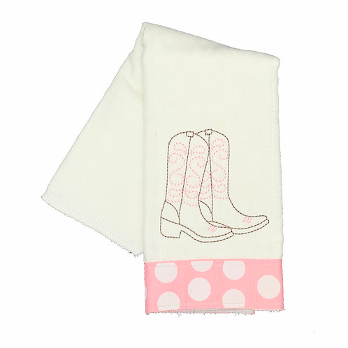 Cowgirl Boots Burpcloth