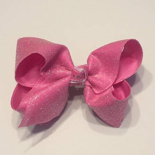 Bubblegum Pink Glitter Bow