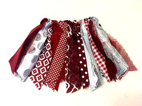 Maroon & Silver Shabby Tutu Skirt