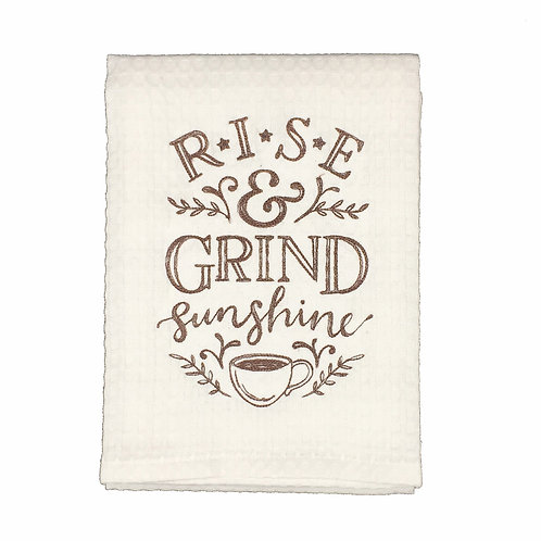 Rise and Grind Dish Towel