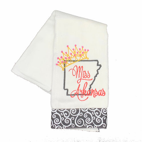 Miss Arkansas Burpcloth