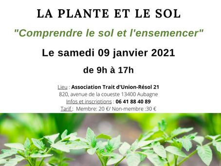 """ATELIER """"La plante et le sol"""", le 9 janvier 2021"""